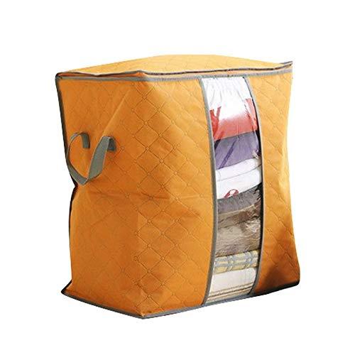 JINQIANSHANGMAO Containers Clothing Organizer Storage Bag Folding Non Woven Clear Window Clothes Blanket Quilt Closet Organizer Boxes (Color : 45x50x30cm orange)