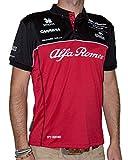 Alfa Romeo Racing Polo para Hombre Alfa Romeo 2020, Hombre, Polo, Rojo/Azul/Blanco, XXX-Large