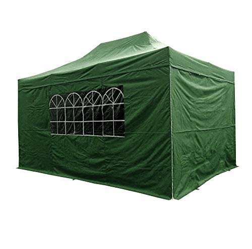 AIRWAVE Gazebo Four Seasons Essential Pop Up Shelter with Sides Waterproof 3 x 4.5m (Green)