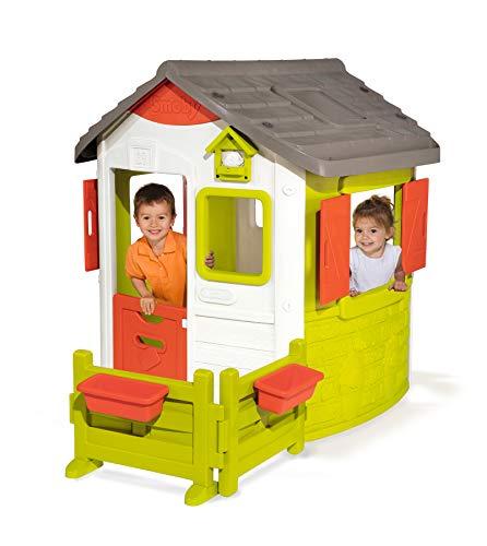 Smoby Neo Jura Lodge - Casita Infantil con Jardín, Multicolor (810501)