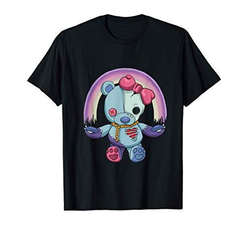 Pastel Goth Teddy Bear Japanese Anime Kawaii Menhera T-Shirt