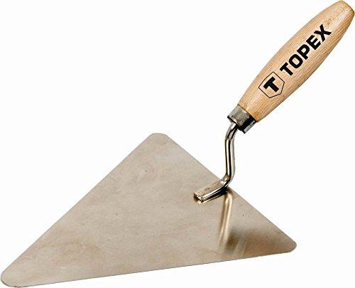 Topex Truelle pour briques en acier inoxydable 180 mm x 180 cm