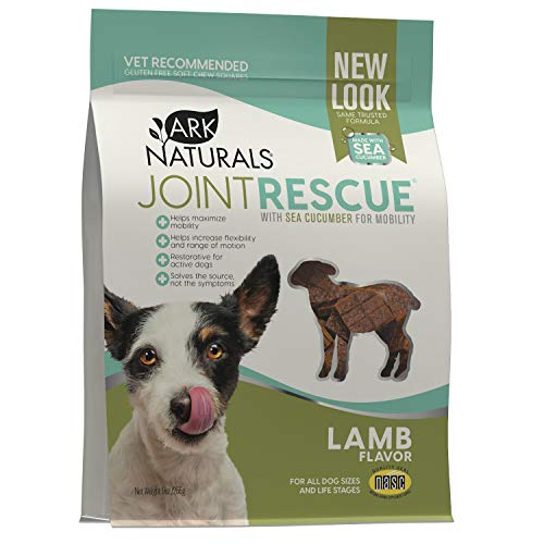 Ark Naturals Sea Mobility Joint Rescue Dog Treats  Lamb Flavor  Joint Supplement with Glucosamine & Chondroitin  1 Pack