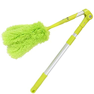 Homiom Microfiber Duster Extendable 62  - Ceiling and Fan Duster - Soft, Fluffy, Washable, Lint free - Lightweight - Exterior and Interior Use