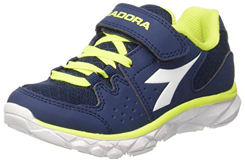 Diadora Hawk 7 Jr, Zapatos para Correr Unisex Niños, Azul (BLU Estate/Bianco), 31.5 EU