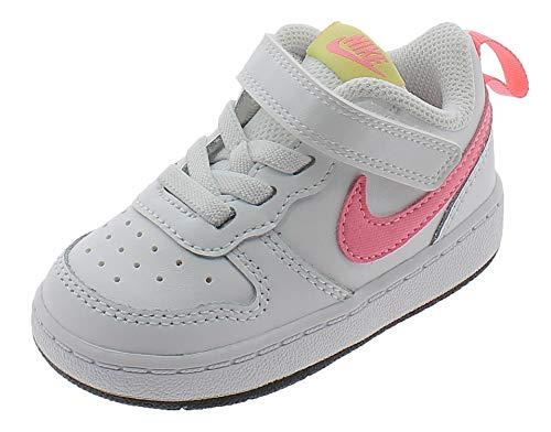 Nike Jungen Unisex Kinder Court Borough Low 2 Sneaker, White/Sunset Pulse-Light Zitron-Black, 23.5 EU