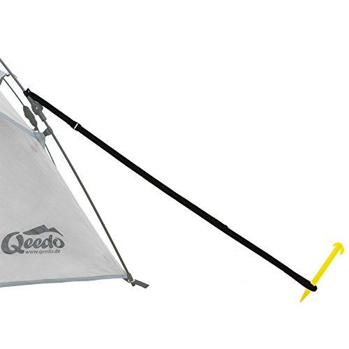 Qeedo Sturmleinen 4-er Set, Quick Storm Set - Robustes Abspannleinen-Set für Quick Up Zelte