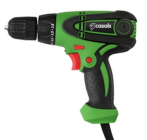 Casals VTA300 Taladro atornillador con cable, 300 W, 0-850 rpm, Verde