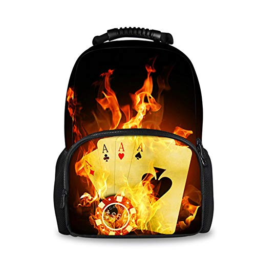 fhdc Rucksäcke Reise Laptop Frauen Leinwand Filz Rucksack Coole 3D Fire Ball Uhr Druck Rucksäcke Für Teenager MädchenUmhängetaschen H5917A