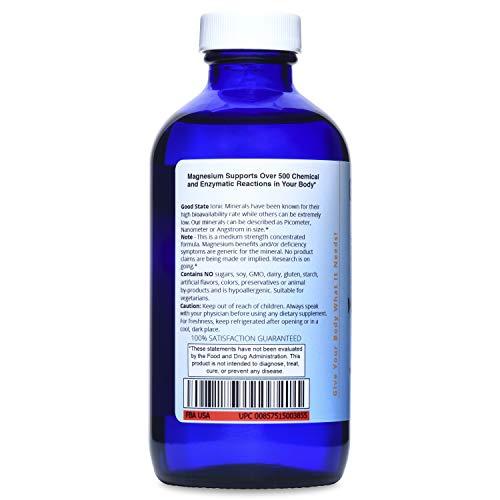 Good State Liquid Ionic Magnesium 125 (96 servings at 125 mg elemental. plus 5 mg ionic trace minerals and 2 mg fulvic acid - 8 fl oz)