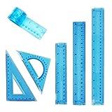 Set di 4 Righelli Flessibili 30 cm // 12 Pollici Righelli in Plastica Trasparente Infrangibili CYH Righello Flessibile Set di 4 Colori Pieghevoli Morbido Righello per Studenti la Scuola lUfficio