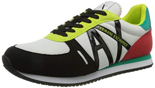Armani Exchange Rio Retro Running, Sneaker Mujer, OP.White+Multicolor, 40 EU