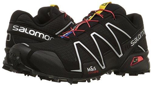 Salomon Speedcross 3, Chaussures de Trail homme, Noir (Black/Black/Silver Metallic X), 42 EU