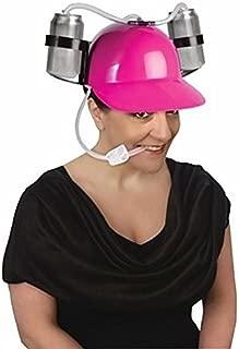 Forum Novelties Neon Pink-Hard Hat Party Drinking Game Beer Soda Dual Can Straw Helmet