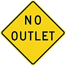 Metal traffic Sign: No Outlet, Size=24