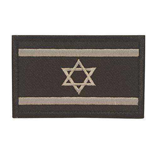 Cobra Tactical Solutions Bandera Israel Israeli Negra Parche Bordado Táctico Moral Militar con Cinta adherente de Airsoft Paintball para Ropa de Mochila Táctica