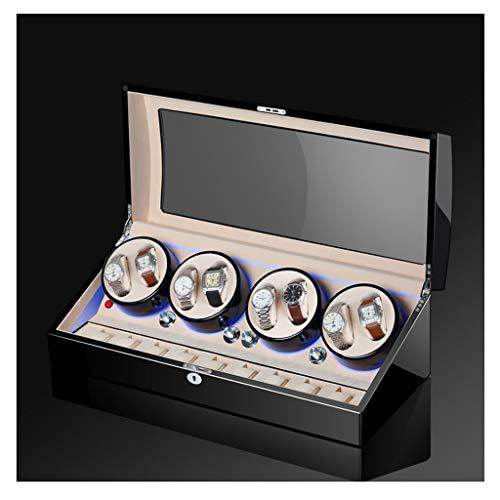 CHYOOO Caja de almacenamiento de reloj de regalo de rotación automática de relojes, caja de almacenamiento de madera, organizador de lujo para 17 relojes, exhibición de reloj caja de almacenamiento