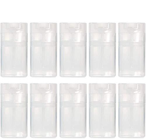 20 unidades de 15 ml transparente desodorante contenedores vacíos ovalados bálsamo labial tubos de plástico libre de BPA