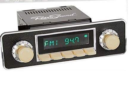 RETROSOUND RSD-Ivory San Diego DAB+ Komplett-Set Ivory mit Zubehör Autoradio für Oldtimer und US-Cars