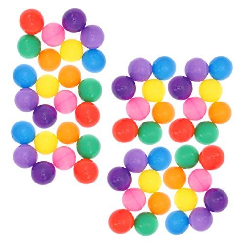 Tomaibaby 100Pcs 5. 5Cm Niños de Plástico Juegan Bolas a Prueba de Aplastamiento Bolas Oceánicas Bola Colorida Bola de Natación Bola de Juguete Niños Juegan a La Pelota para Interiores Al