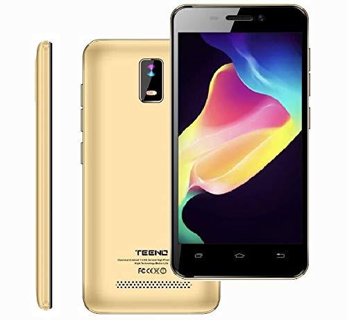 clasificación y comparación 4.0 pulgadas 4G Teléfono móvil gratis HDIPS barato 1GB RAM 8GB ROM Dual SIM Dual Camera (Gold) TEENO para casa