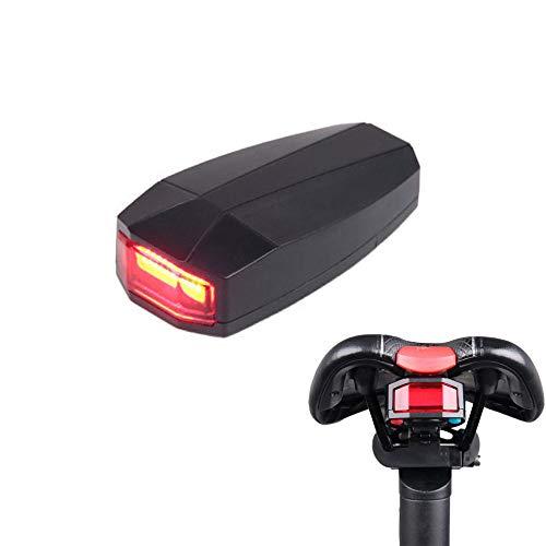 Linghuang intelligent waarschuwingslicht voor fiets, smart achterlicht, waterdicht, draadloos, met USB-oplader, diefstalbeveiliging, alarm, hoorn, licht