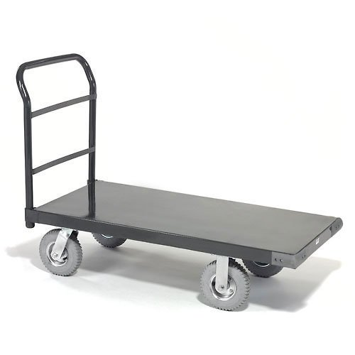 "Platform Truck w/Steel Deck, 8"" Pneumatic Casters, 48 x 30, 1200 Lb. Capacity"