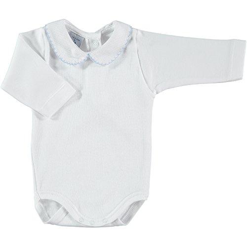 babidu 1188, Body Para Bebe, Blanco (Celeste), 0 meses