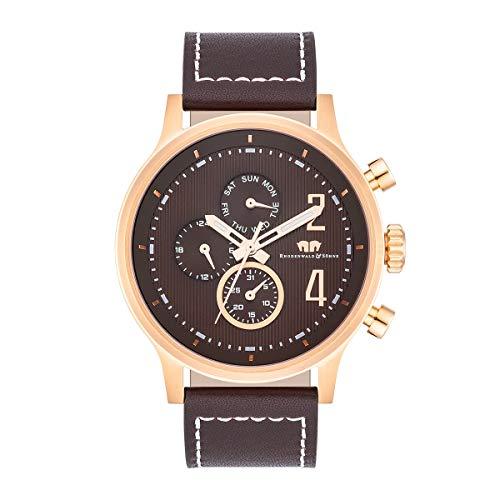Rhodenwald & Söhne Reloj para Hombre análoga Japón Mecanismo de Cuarzo con Correa de Cuero Real 10010323