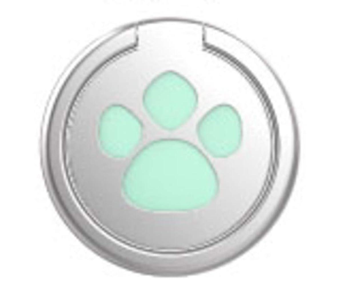 柔らかい早くレキシコンKUBIRA(クビラ) 2点セット スマホリング バンカーリング リング 猫 ねこ ネコ 肉球 にくきゅう ピンク & グリーン 1907aku1020 (グリーン2個)