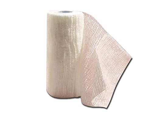 PREVIS Previcoesiva, Benda Elastica Coesiva, Misure 4 m x 10 cm, Confezione da 10 pezzi