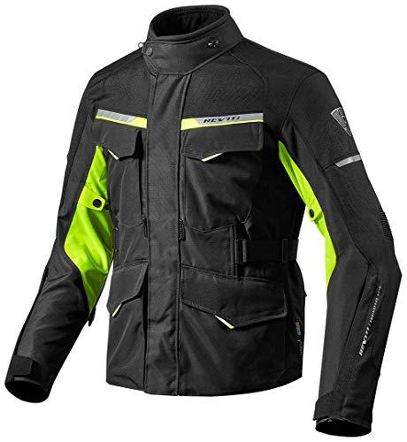 Revit Jacke Outback 2, Farbe schwarz-Neongelb, Größe XXL