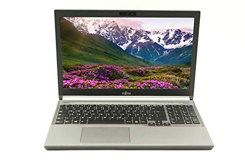 Fujitsu Lifebook E754 15,6 Zoll WXGA | Leistungsstarker Laptop | Intel Core i5 8GB RAM 256 GB SSD Win 10 Pro DVD-RW Tastatur DE | 1,9 kg schwatz/grau (Generalüberholt)
