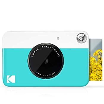 KODAK Printomatic Digital Instant Print Camera - Full Color Prints On ZINK 2x3  Sticky-Backed Photo Paper  Blue  Print Memories Instantly
