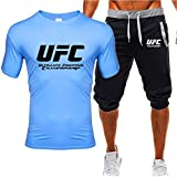 Camiseta Estampada Camisetas Y Pantalones Cortos De Verano, UFC Impreso MMA Fitness Sportswear Traje, Fans De Artes Marciales Mixtas (Size : Small)