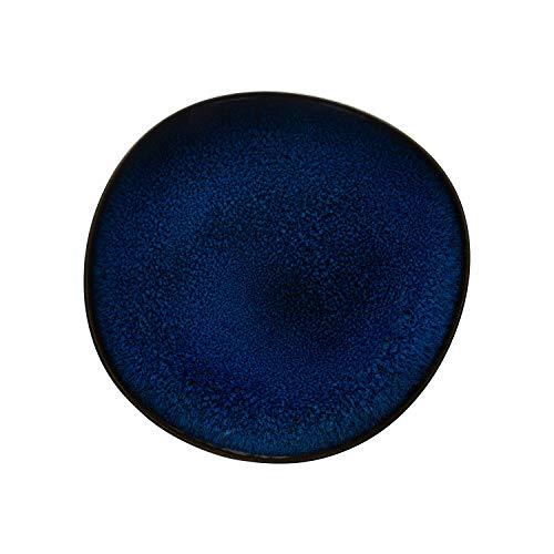like. by Villeroy and Boch – Assiette à Dessert Lave Bleu, 23,5 cm, élégante Assiette Plate en Grès pour un Brunch, Résistante au Lave-Vaisselle et au Micro-ondes