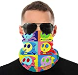 Cloth Masks for Nose and Mouth Washable- Warhol Shyguys Unisex Face Cover Bandanas Headwear Neck Gaiter Headwrap Balaclava-Style1-One Size
