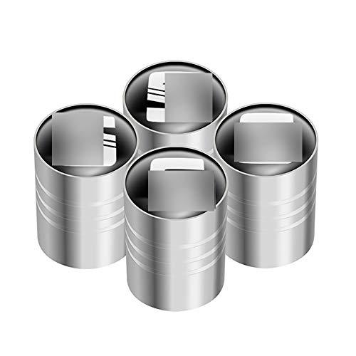 4 Piezas para Se-At Leon Ibiza Ateca Alhambra Exeo Altea Arona Toledo Tarraco Tapas de Metal para válvula de neumáticos de Coche, Tapas para Válvulas de Neumáticos con anillos de goma, Tapón de Polvo