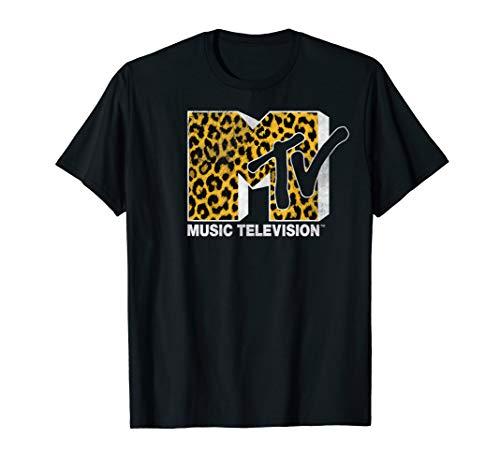 MTV Logo Cheetah Print Graphic T-Shirt for Men, Boys, S to 3XL