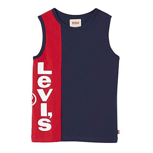 Levi's kids Nn10327 tee-Shirt Camiseta, Azul (Dark Blue 48), 3 años (Talla del Fabricante: 3Y) para Niños