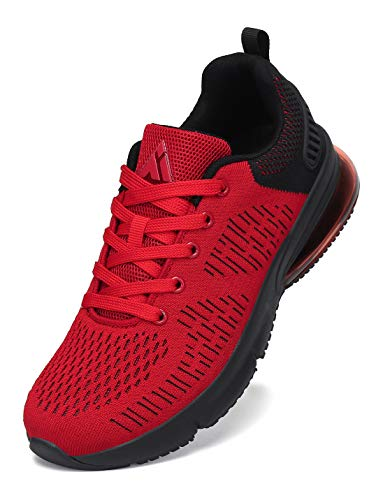 Mishansha Air Turnschuhe Herren Outdoor Laufschuhe Damen Atmungsaktiv Joggingschuhe Rot 42