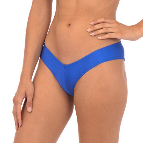 Gary Majdell Sport Damen Metallic oder Glanz Sexy Badeanzug Bikini - Blau - Large