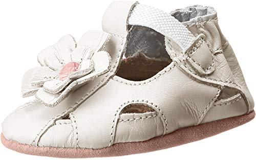 Robeez Pretty Pansy Soft Sole Sandal (Infant),White,0-6 Months M US Infant