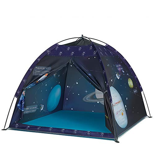 Space World Play Tent-Kids Galaxy Dome Tent Playhouse for Boys and Girls Imaginative Play-Astronaut Space for Kids Indoor and Outdoor Fun, Perfect Kid's Gift- 47  x 47  x 43