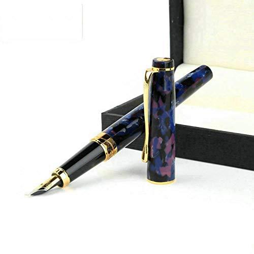 Pluma estilográfica jjzz regalo de bellas artes práctica de caligrafía caligrafía iridio pluma de acero inoxidable 1.0mm izquierda y derecha universal