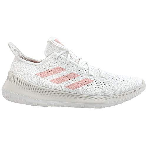 adidas Women's Sensebounce + Summer Ready Running Shoe, White/Pink Spirit/Light Red, 11.5 M US