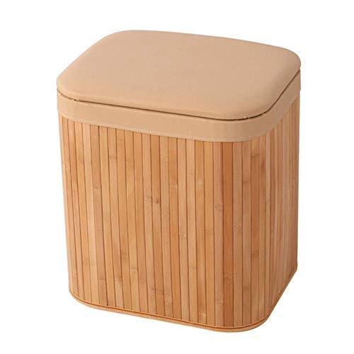 FSYGZJ Taburete para pies Taburete para sofá Otomano de bambú para Tejer con Almacenamiento Situación Banco de Zapatos Entrada Sala de Estar Decorativa para el hogar, 5 Colores, 2 tamaños (Color: A