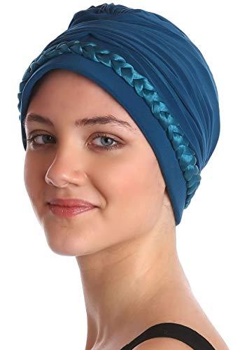 Deresina Headwear Turbante Trenzado Delante (Verde Azulado)