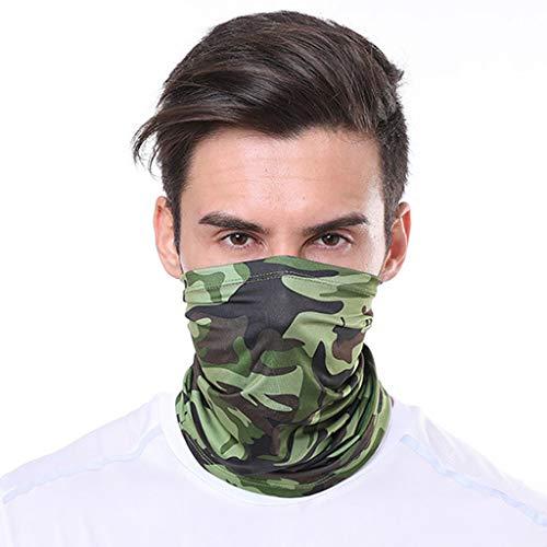 NINGSANJIN Sturmhaube Face Shield, Multiunktionstuch Maske Fishing Bandana Outdoor Dust Gesichtsmaske Halstuch Ski Motorrad Paintball Face Shields Radfahren Maske (Army Green)