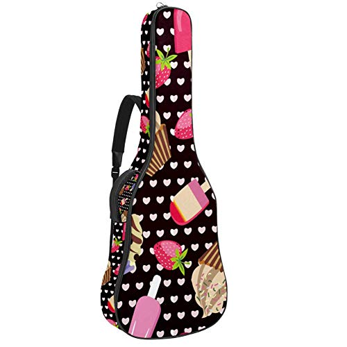 TIZORAX - Funda para guitarra acústica con asa acolchada para el hombro